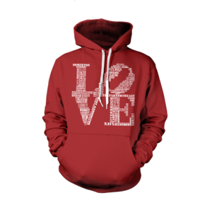 Image of Classic Love Hoodie (Red/White)