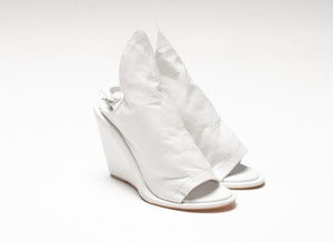 Image of BOULEVARD wedges (white leather)