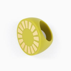 Image of Sunshine Statement Ring | Acid Yellow + Golden
