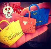 Image of WITH LOGO - Céline my phone decorative headphone plug - yellow