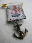 Image of Boat and anchor brooch