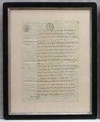 Image of Custom framed antique French document, one of a kind (I)