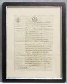 Image of Custom framed antique French document, one of a kind (VI)