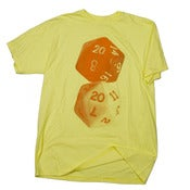 Image of Critical hit dice tee - Orange on Yellow
