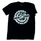 Image of Space Police Join Now pinup girl tee - Black
