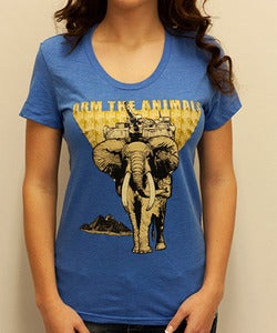 Image of Girls | Hellephant | Tri Blend Fashion Crew | Heather Royal