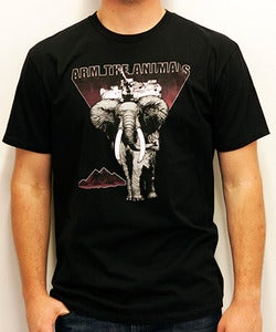 Image of Guys | Hellephant | Crew | Black (Maroon Print)