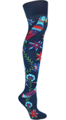 Image of Love Bird Over-The-Knee Socks Blue