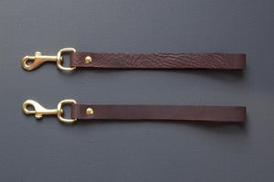 Image of LEATHER Wrist Strap. Removable Wrist strap for Clutch.