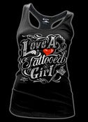 Image of Love a Tattooed Girl Racer Back Tank Top Style #3192
