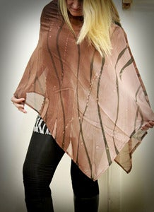 Image of Silk chiffon closed shawls