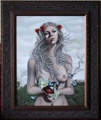 Image of Heart Shaped Box - FRAMED Original Painting 18x24 SALE