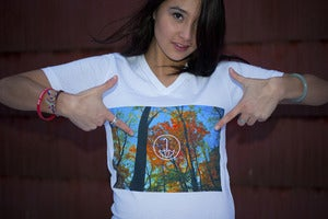 Image of Fall Leaves V-Neck
