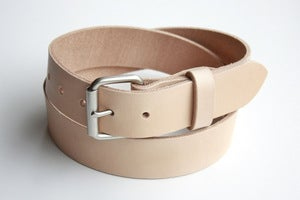 Image of The Roller Buckle Belt - Natural