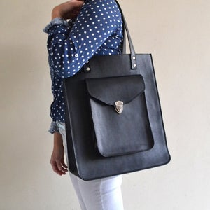 Image of Pamela Oversized Leather Tote Bag