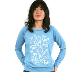 Image of Herbal Tea Eco-Heather Pullover - Brilliant Blue