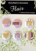 "Image of Baby Girl Flair - 6 x 1"" Flatback Badges / Buttons - Rourke's Rounds"