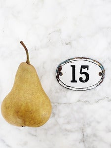 Image of French Original Enamel House Number