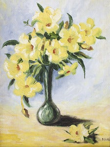 Image of Painting - Daffodils on Board