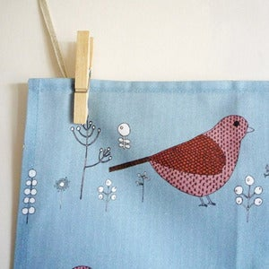 Image of Blue Bird Tea Towel