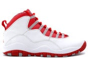 Image of Air Jordan 10 Retro White/Varsity Red-Steel Grey
