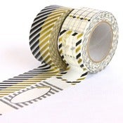 Image of Black & Gold Gift Washi Tape Set