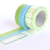 Image of Blue & Green Gift Washi Tape Set