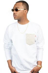 Image of Croc Pocket Crew White