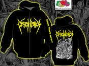 Image of Despondency - Yellow Logo Zip-Hoodie 