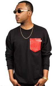 Image of Croc Pocket Crew Red
