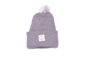 Image of Laser Pom Pom beanie in Heather grey