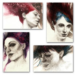"Image of ""Girls with Stars in Their Hair"" Print set"