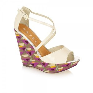 Image of Ravel Lush Print and Cream Wedges