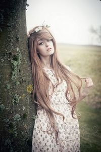 Image of Scout, Long Brown Wavy Gothic Lolita Cosplay Wig