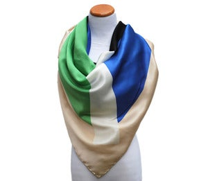 Image of Oversized Silk Scarf