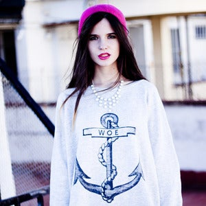 Image of WOE ANCHOR grey oversize sweatshirt