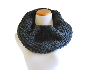 Image of Hand Knit Cowl in Grey