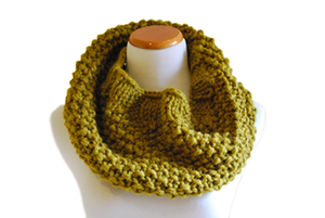 Image of Hand Knit Cowl in Mustard