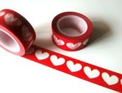Image of Washi tape &quot;White hearts&quot;