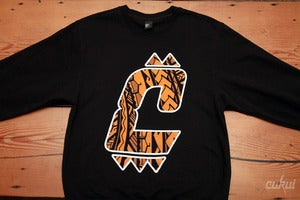 Image of Tiger Tribal C Logo Sweatshirt - Black