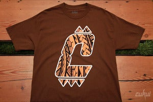 Image of Tiger Tribal C Logo Tee - Brown