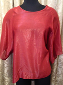 Image of Jeremy Laing Rust Sparkle S/S Top O/S