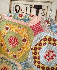 Image of Happy Scrappy Hexies Quilt Pattern