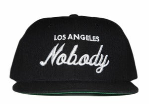 Image of LOS ANGELES NOBODY Black Snapback Hat