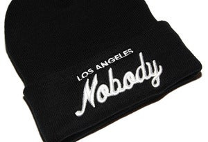 Image of LOS ANGELES NOBODY Black Beanie