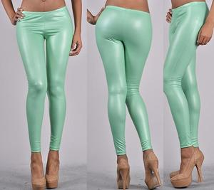 Image of MINT LEATHER LEGGINGS