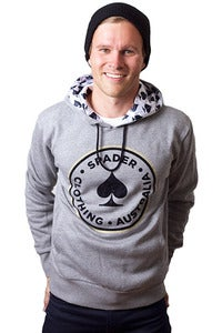 Image of Men's Grey Classic Case Hoody