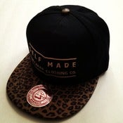 Image of Raw Caviar Cheetah Black Snapback