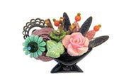 Image of Vintage Flower Basket Pin by Joli Jewelry