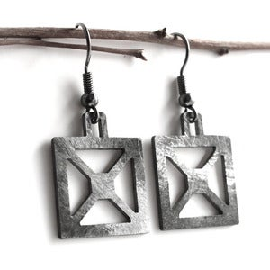 Image of Bridge X Truss Earrings